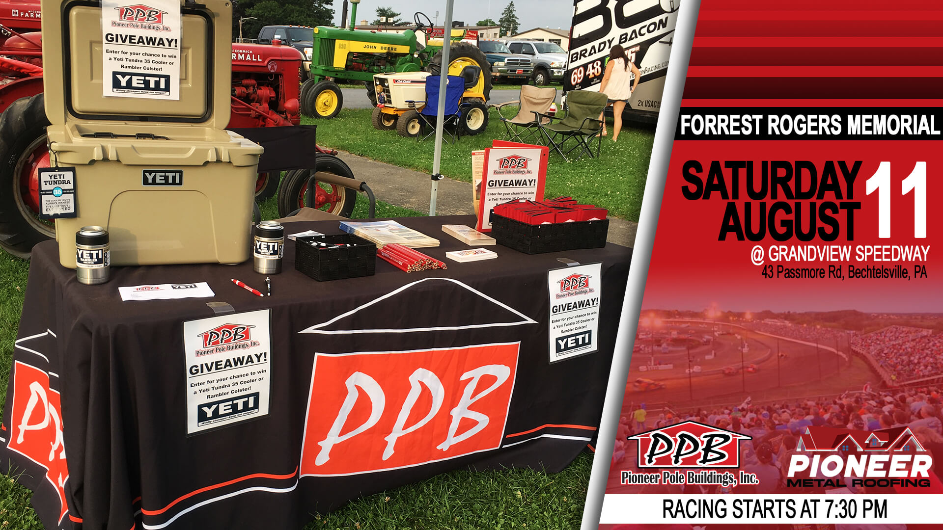 Pioneer Pole Buildings To Attend Forrest Rogers Memorial at Grandview Speedway